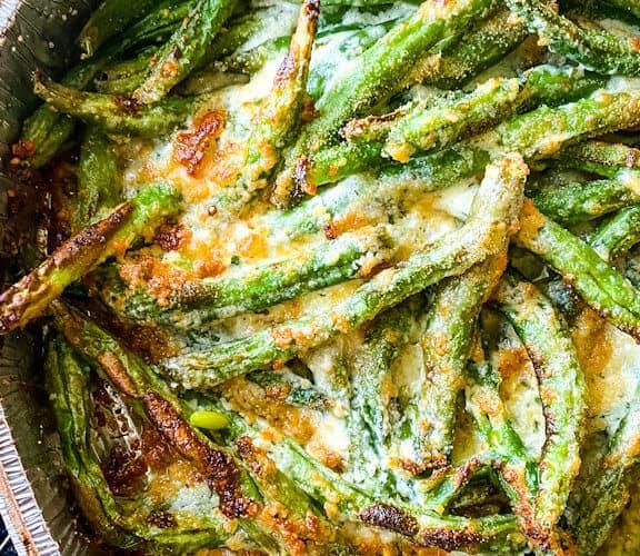 Air Fryer Parmesan Garlic Green Beans
